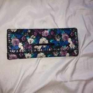 Steve Madden flowery tri-fold wallet.